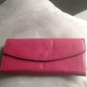 Christian Dior Red Leather Vintage Wallet